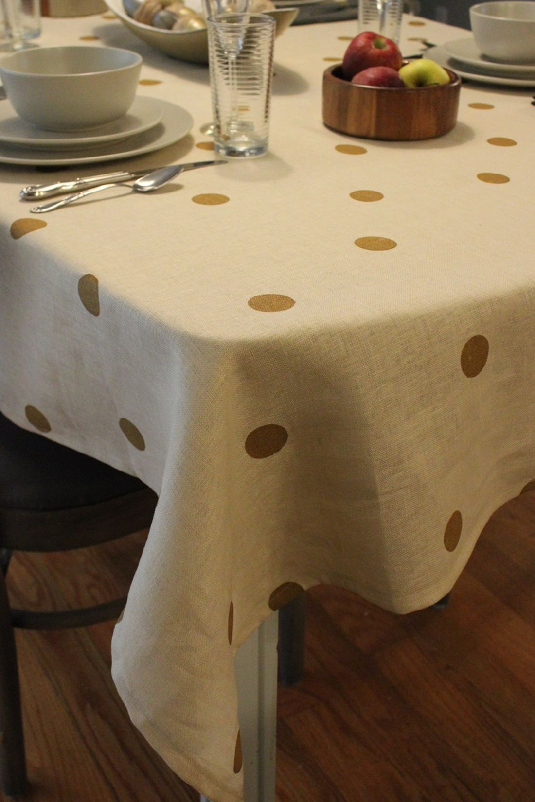 DIY Polka Dot Tablecloth Tutorial