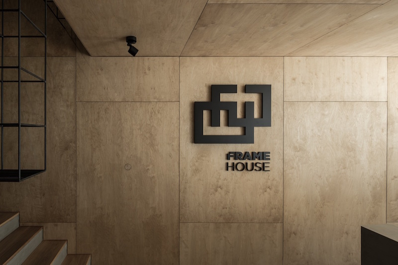 Framehouse office reception logo