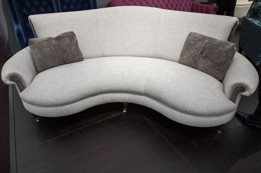 Grey Matilda Curved Sofa