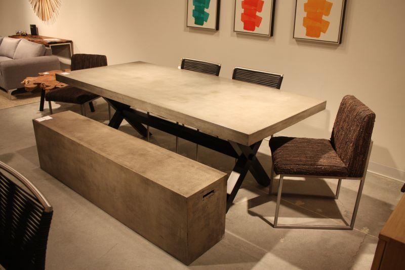 Grey concrete furniture