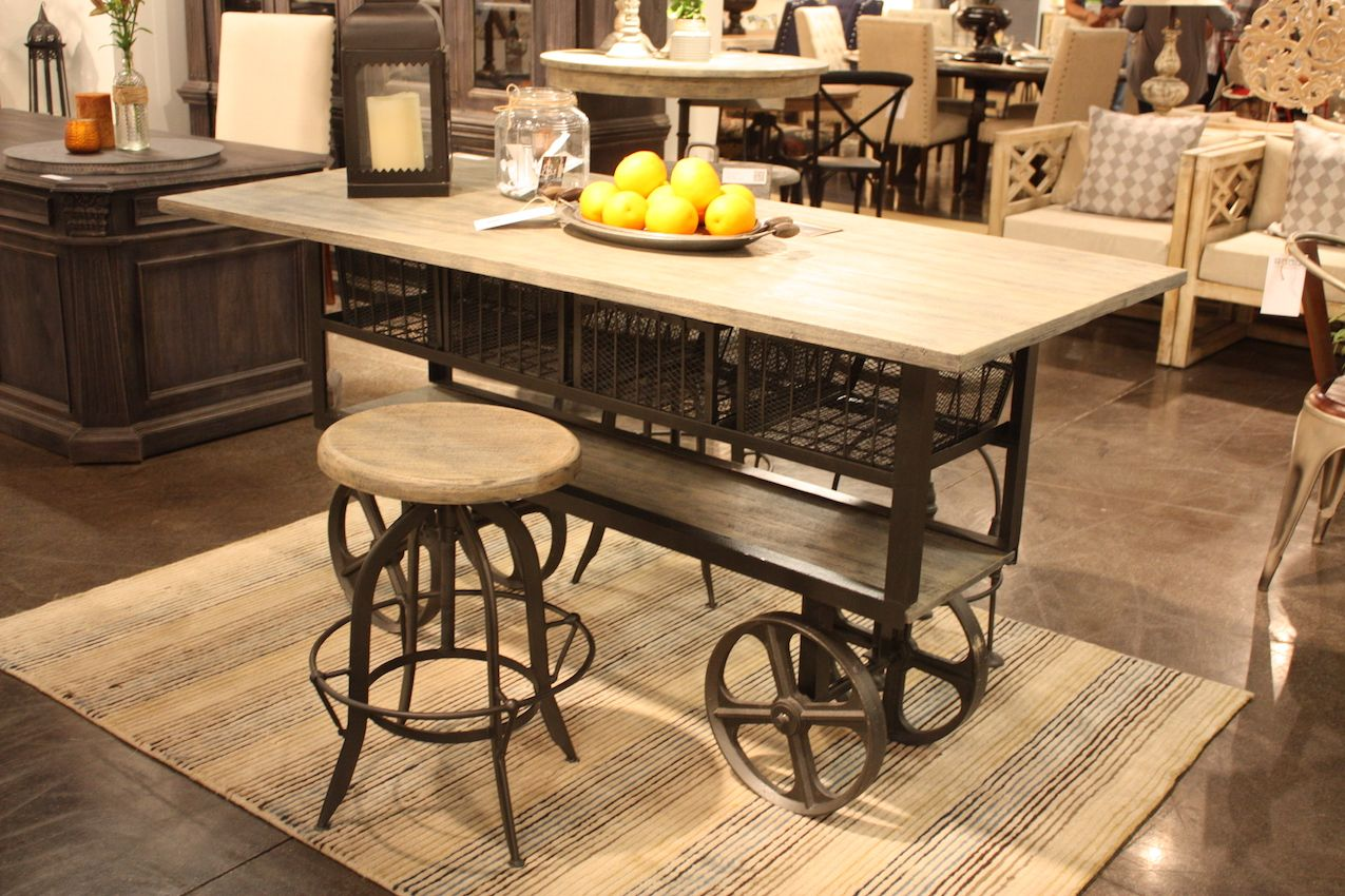 Home accents wheeled island - industrial design