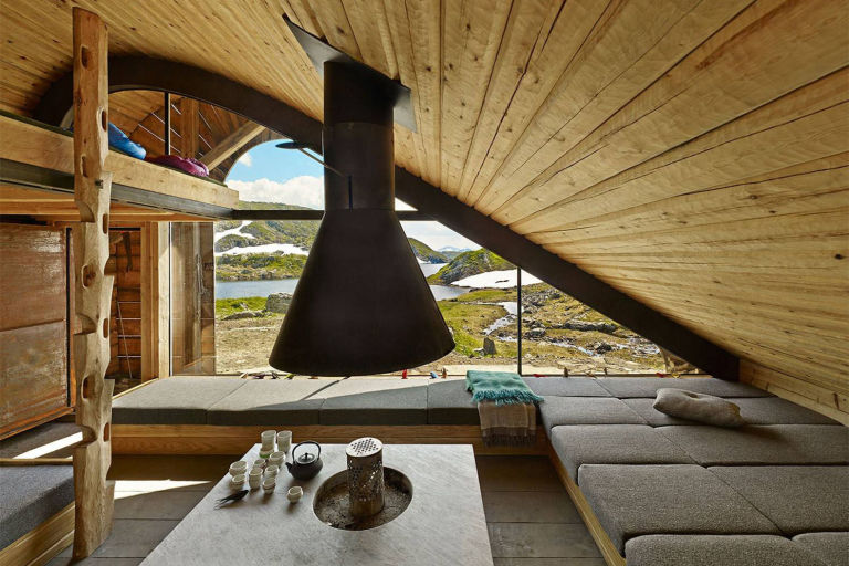 Norway Tiny Cabin Interior