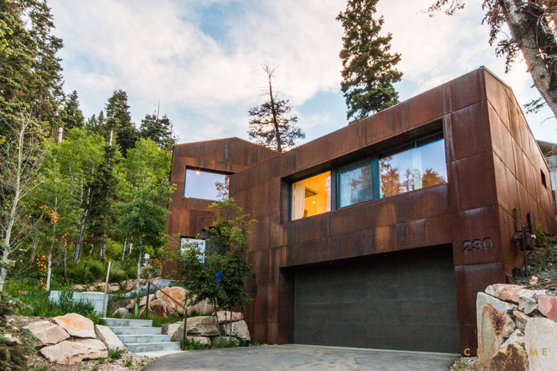 Rusty Weathering Steel Covers This Mountain House In Utah Design