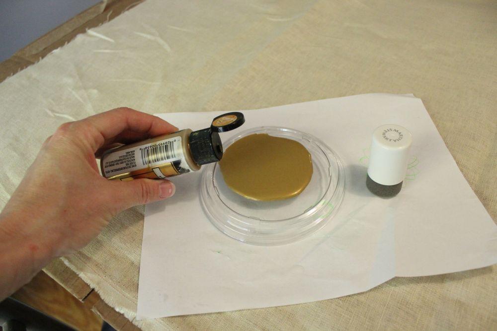 Shake up your acrylic paint bottle