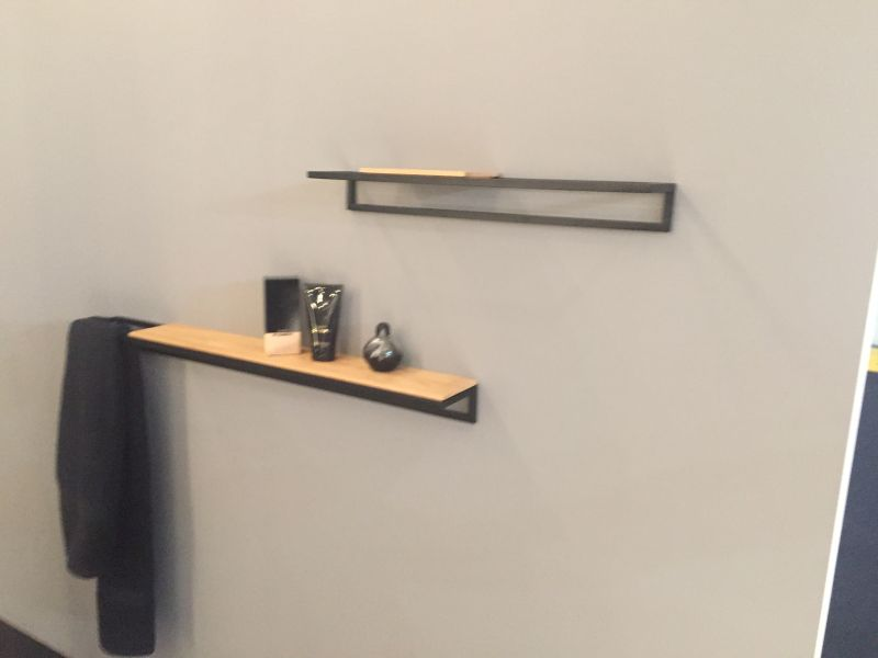 Simple Wire and wood wall shelves
