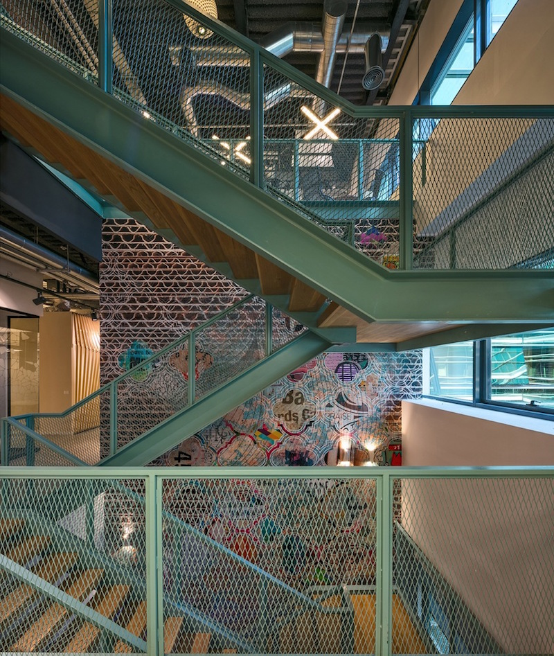Algotec Offices staircase structure
