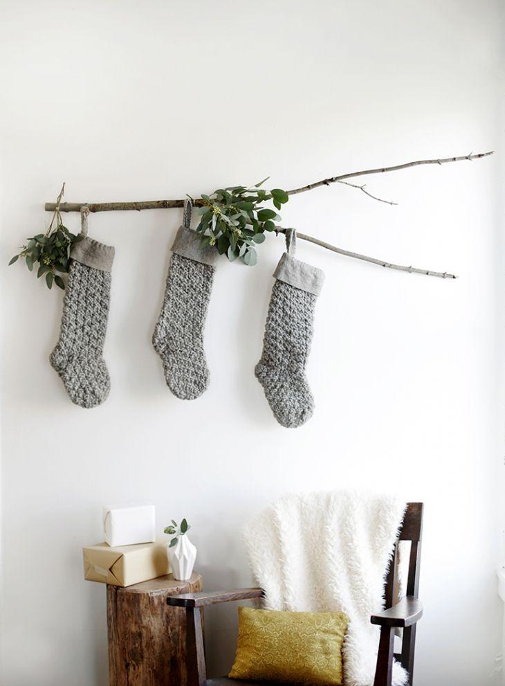 Branch displaying stocking
