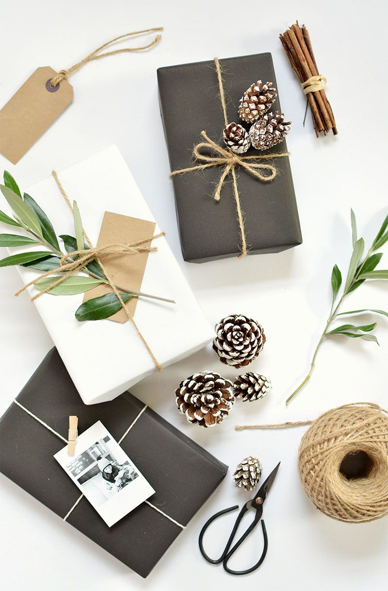 Branches and cinnamon sticks gifts