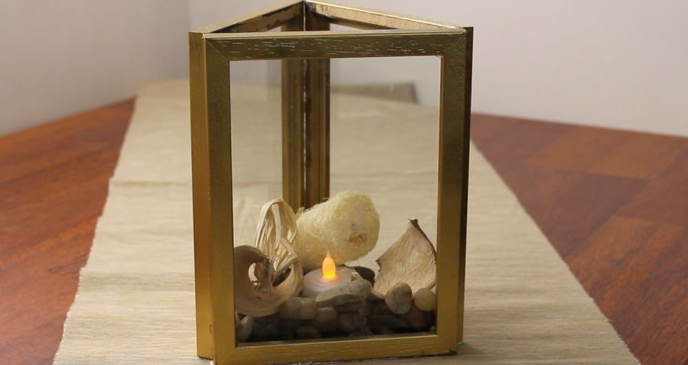 Cute Candle Holder From Picture Frames Home Decorating