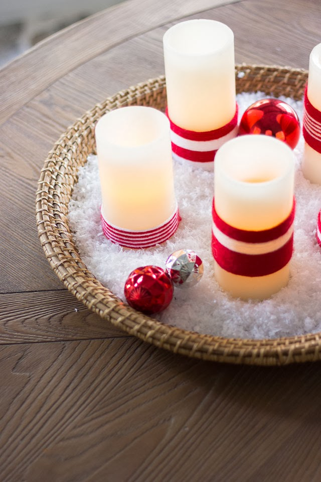 Christmas Candle Holder Basket