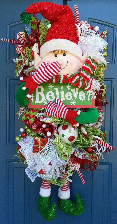 Christmas Deco Mesh for Door