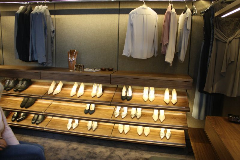 Closet organization system for shoes