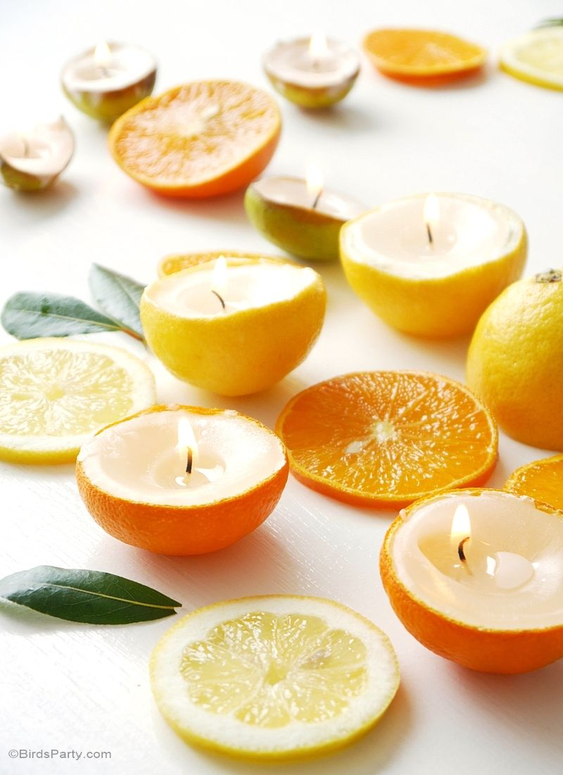 DIY Quick and Easy Citrus Candles
