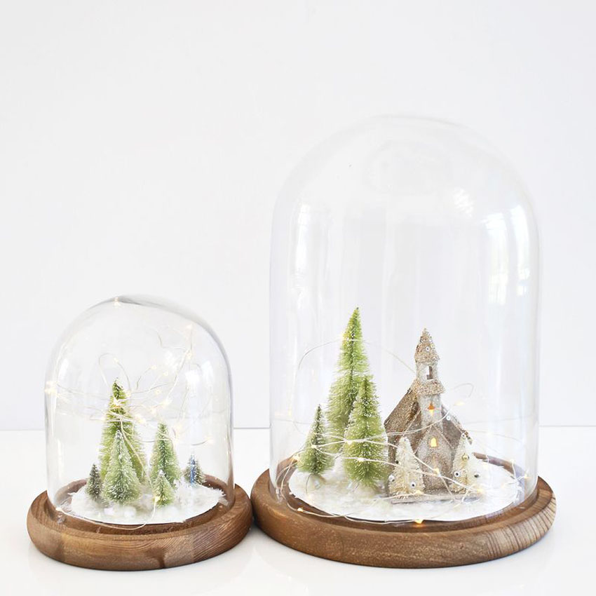DIY christmas cloches