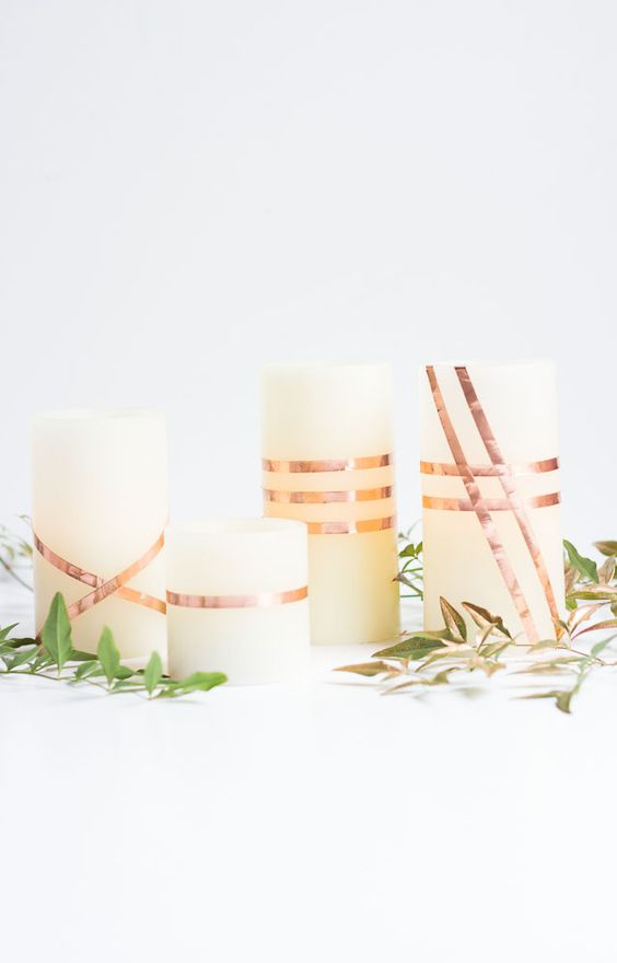 DIY copper candles