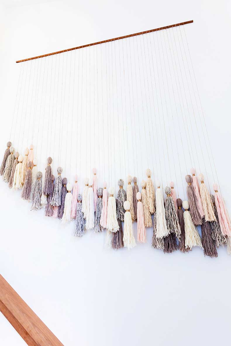 DIY giant tassel hanging