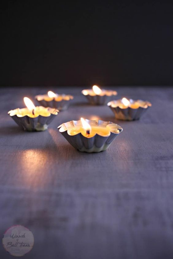 DIY kitchen container candles