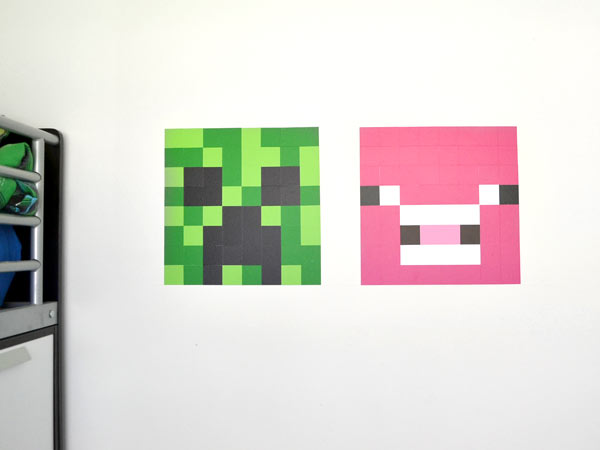 DIY minecraft wall art