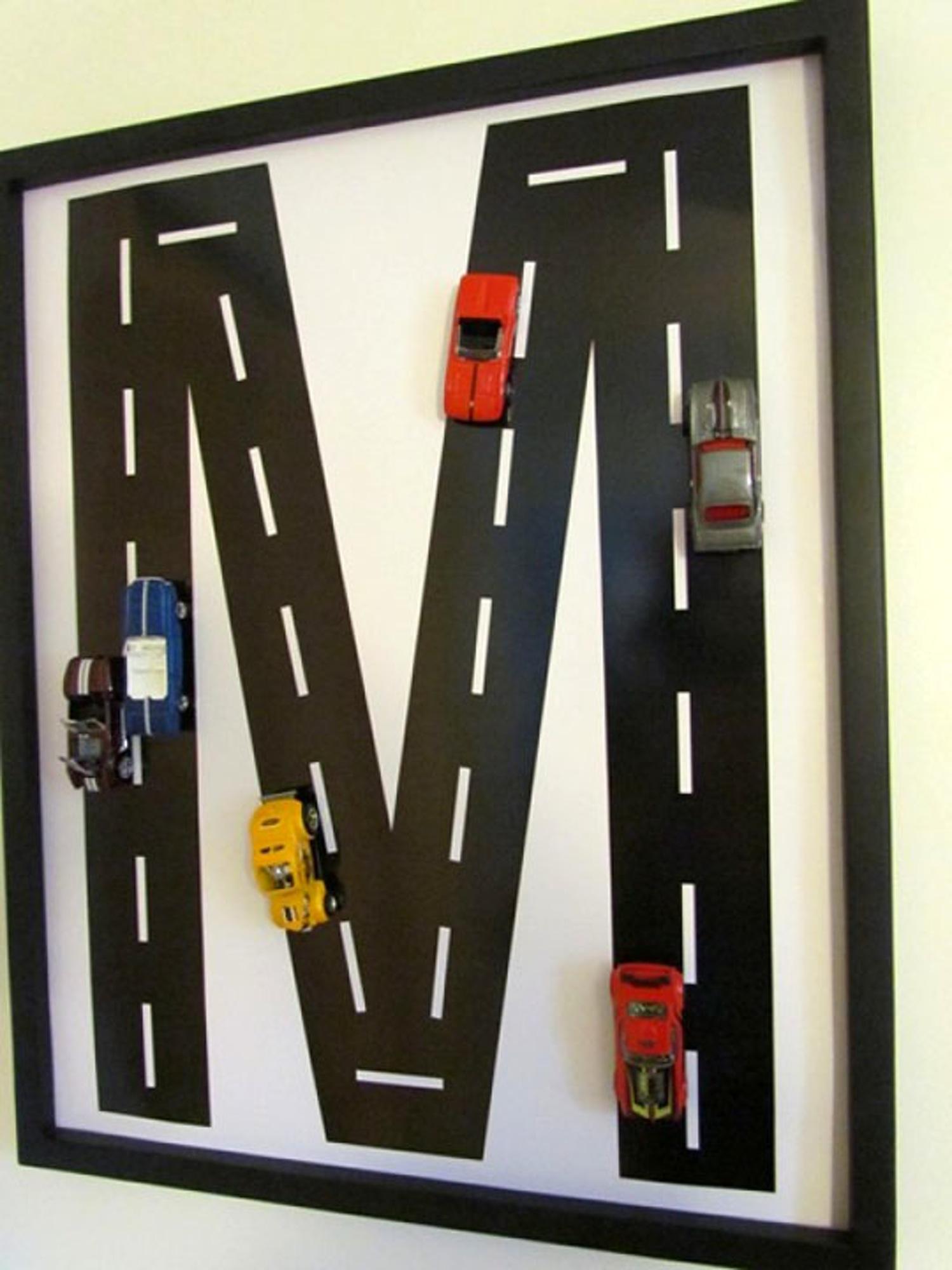 DIY road monogram