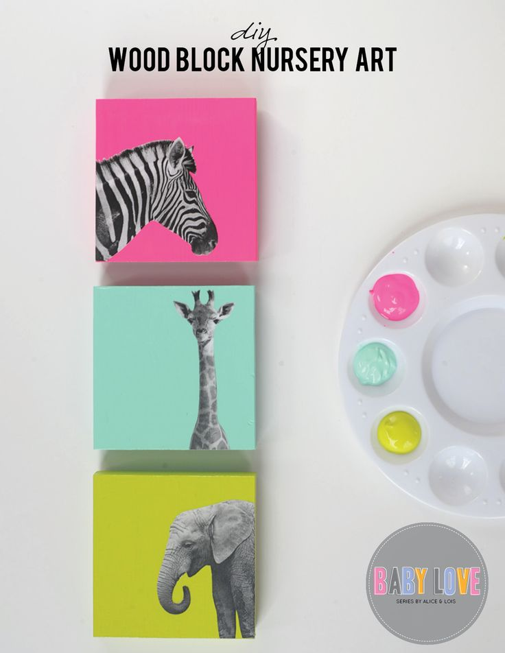 DIY wood animal canvas