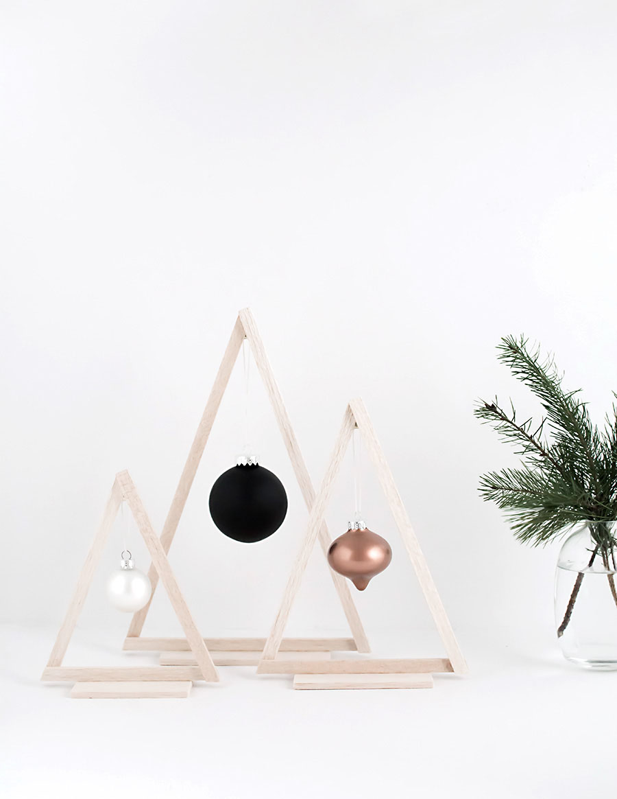 DIY wooden ornanent trees