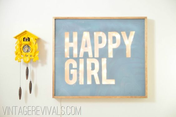 DIY wordy lights sign