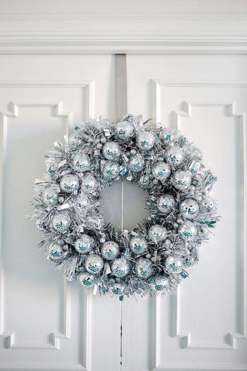 Disco Ball Winter Wreath