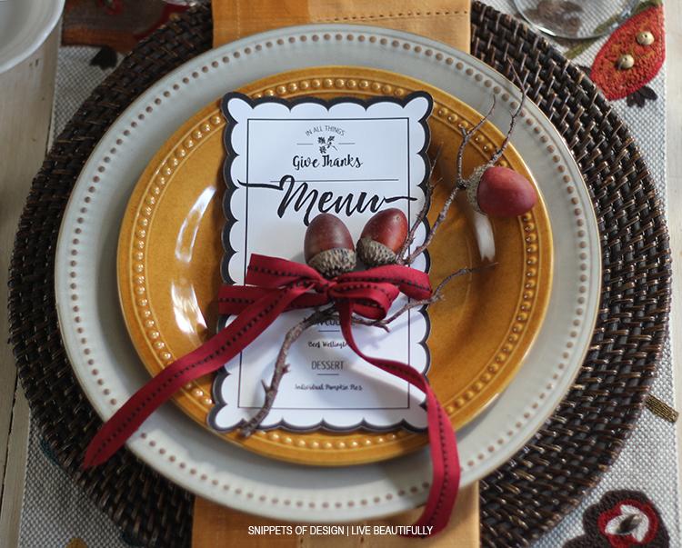 Evening of gratitude Table
