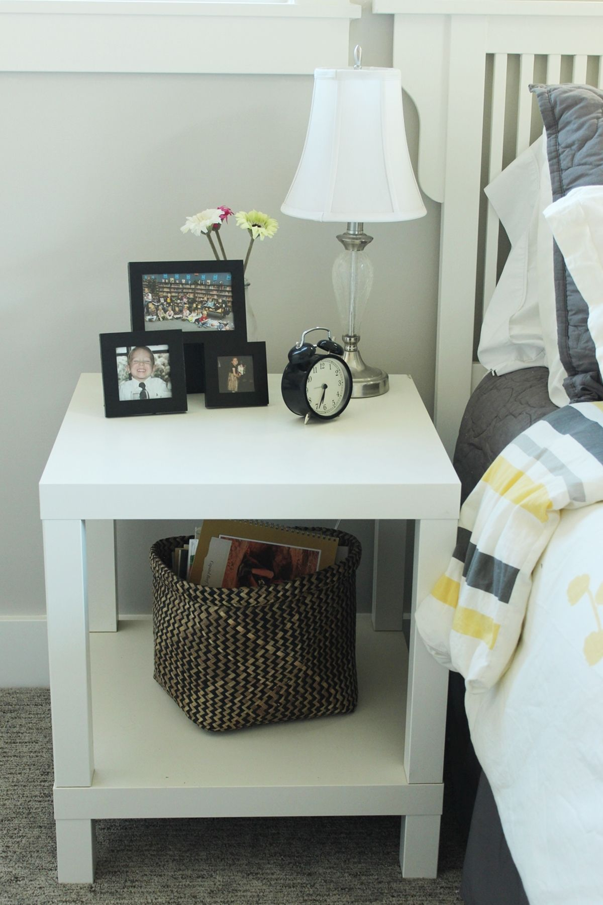 Guest Bedroom Nighstand Decor