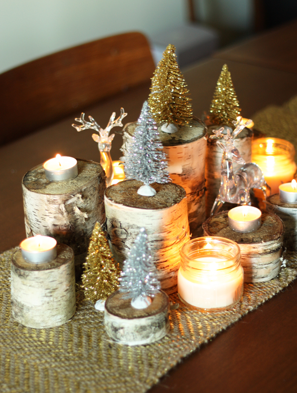 Holiday Wood Centerpiece