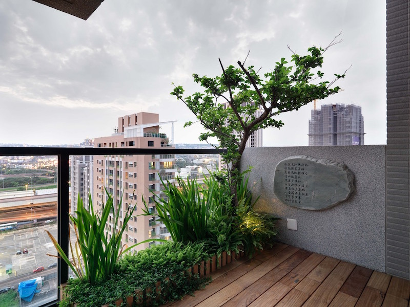 Jade apartment balcony view