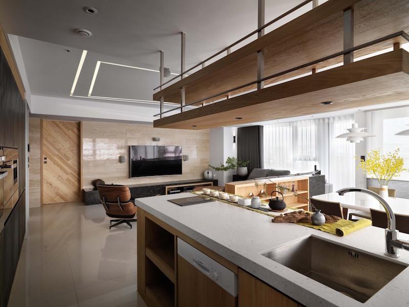 Jade apartment kitchen island