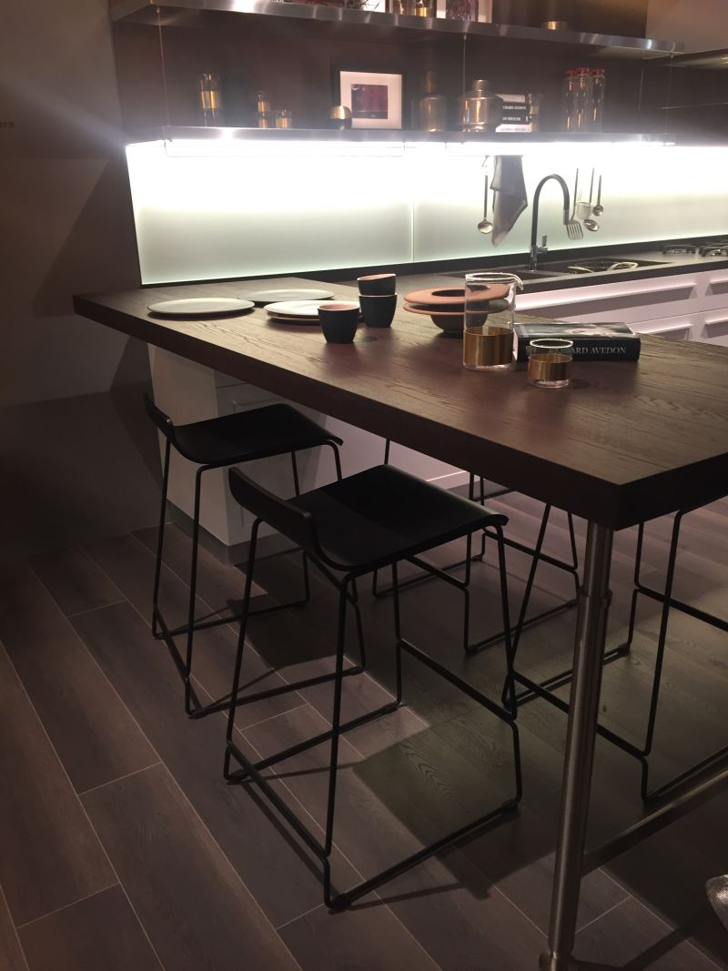 Kitchen extension bar height table