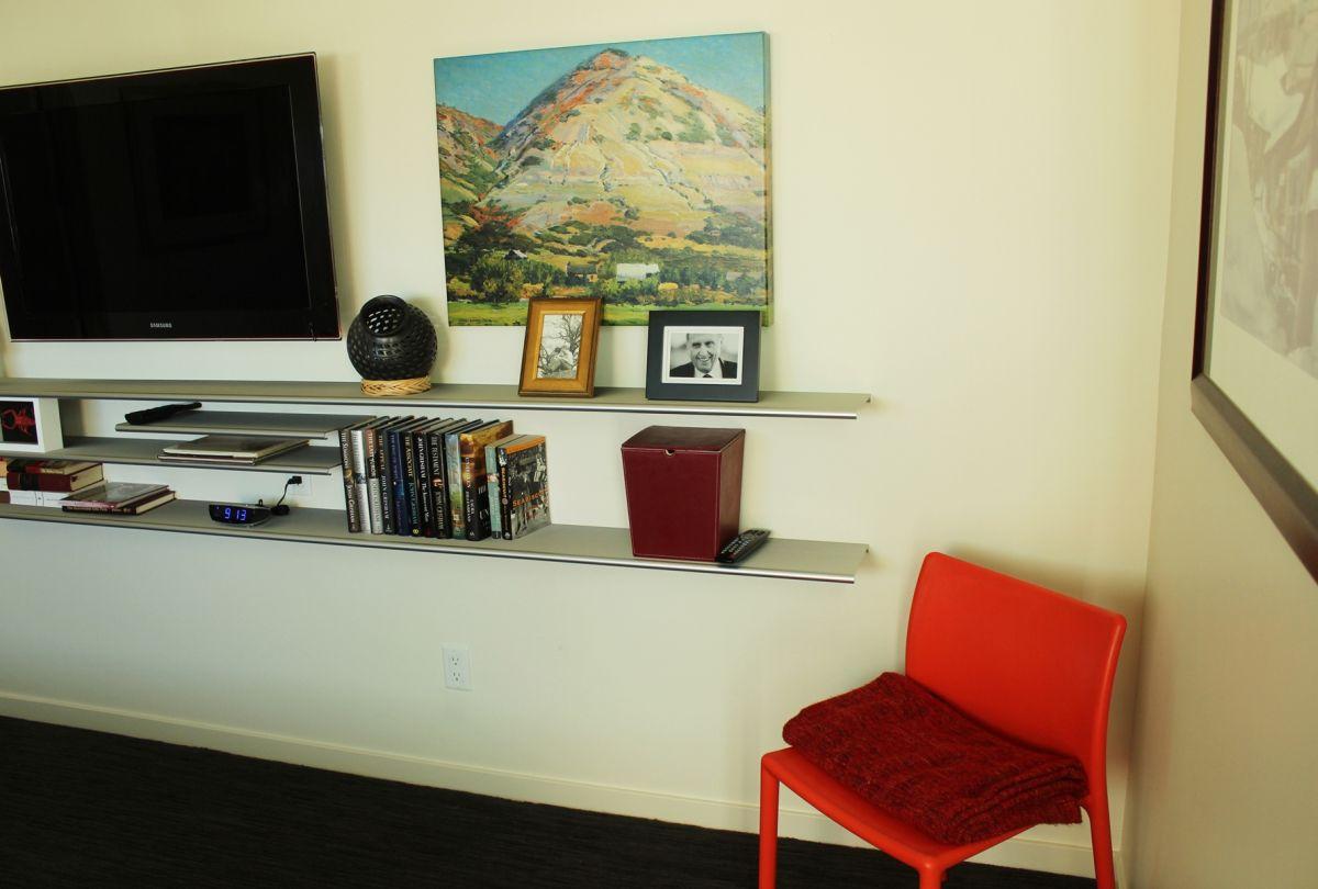 Media shelves and wall art