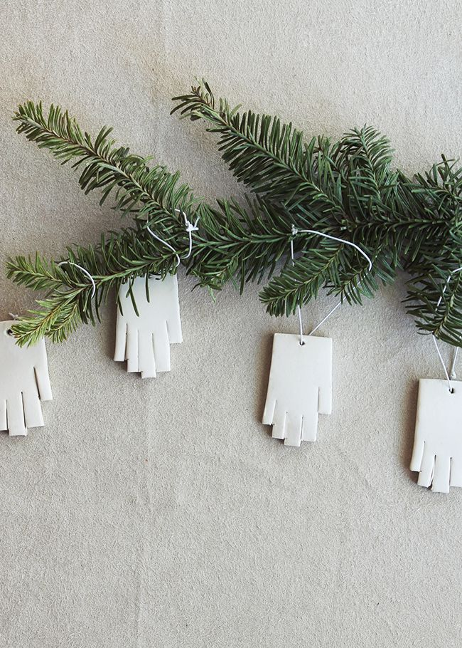 Mini Hand Christmas Tree Ornaments