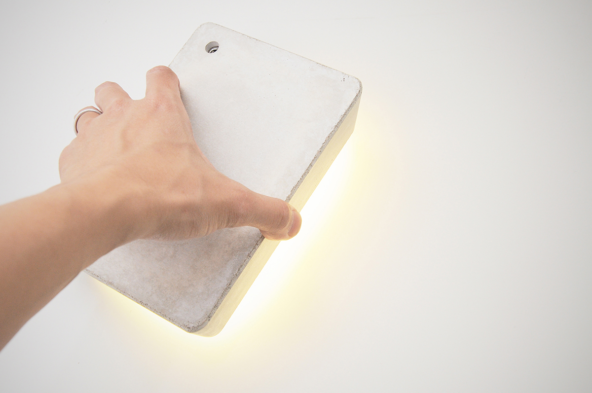 Minimal Brick Lamp from Concrete