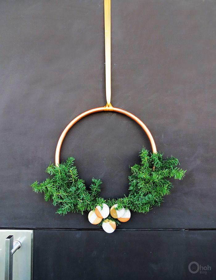 Modern Christmas Wreath For Door