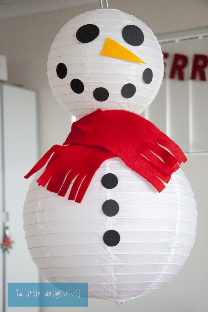 Paper Christmas Snowman