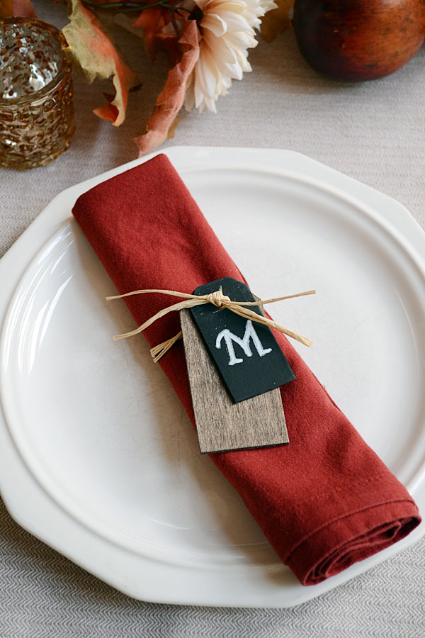 Personalize your thanksgiving table with monogram napkin