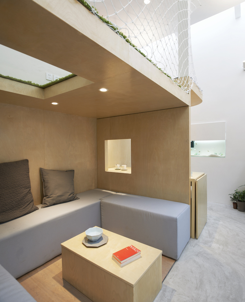 Tiny house in Dongcheng lounge area