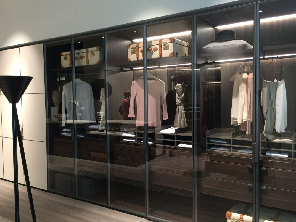 Transparent Glass Closet doors