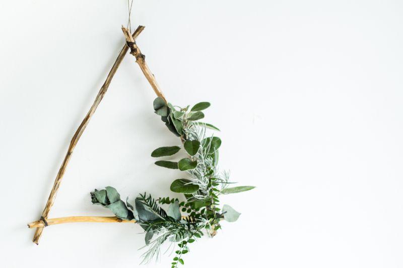 Triangle Christmas Wreath