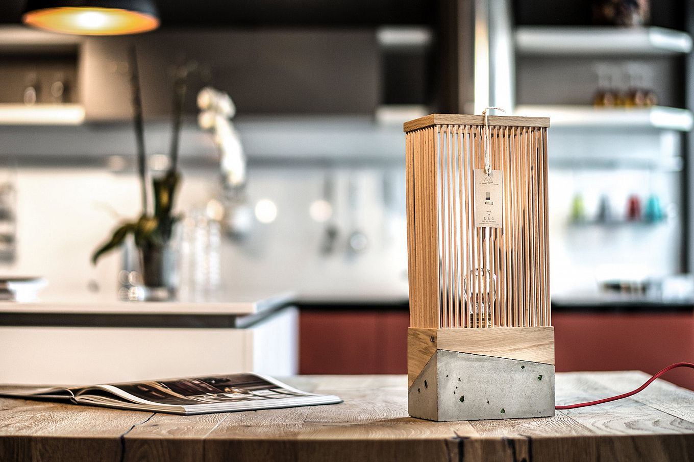 Twig Concrete Base Lamp