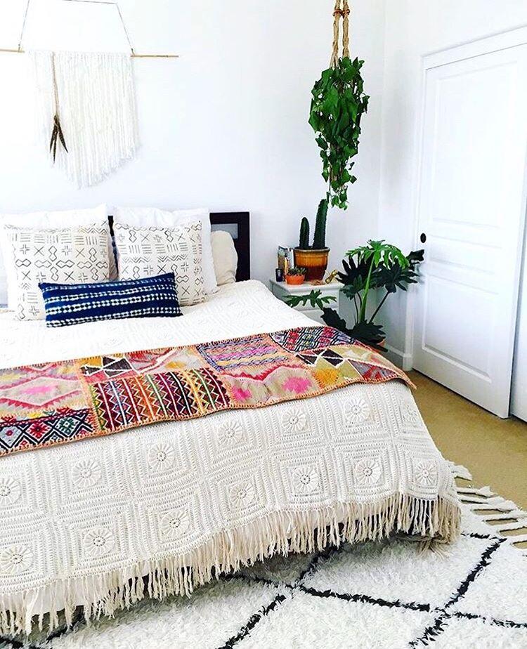 Boho bedroom textures