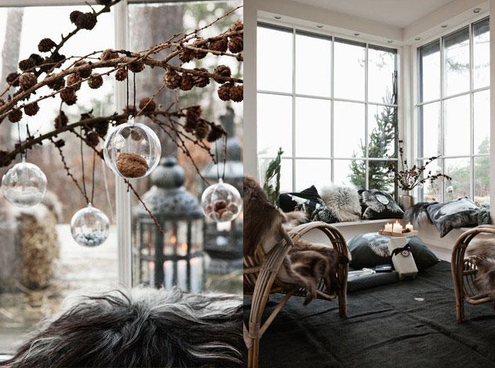 Danish Fur throw pillows