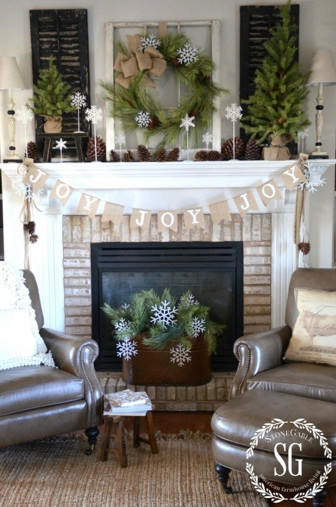 50 Christmas Mantles For Some Serious Decorating Inspiration Versatile mantel background