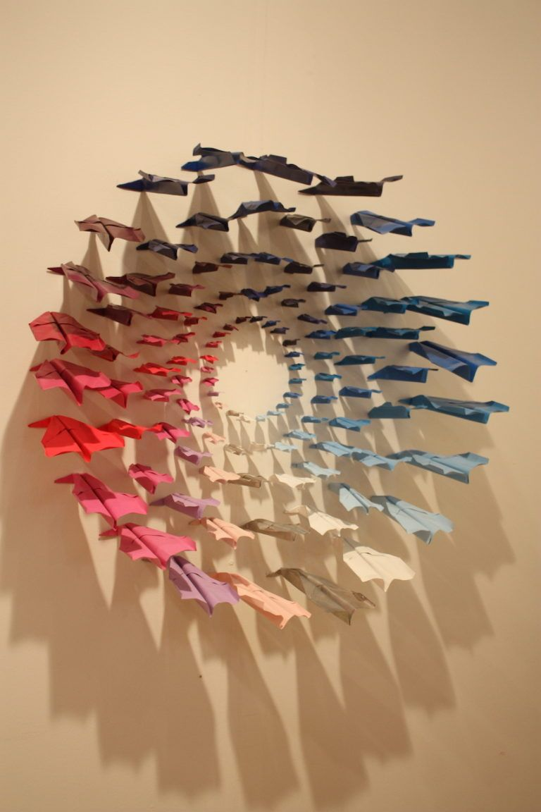 Colorful or monochrome, the arrangements of planes are funky and fun.