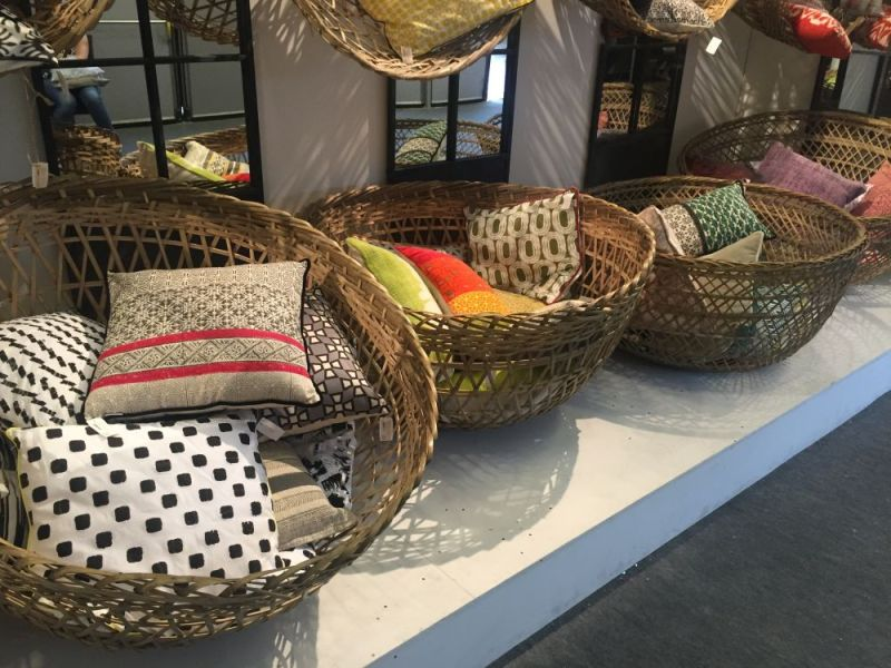 Rattan Furniture And Accessories Reveal Their Casual And Versatile ature     Are they large baskets or are they a sort of cozy nest chairs  Well   you can decide that for yourself