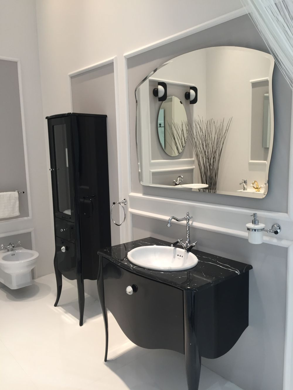 how to integrate a black vanity into