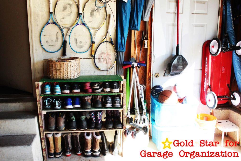 diy shoe storage shelves for garage an